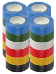 PRO POWER SH5005-24MPK  Insulation Tape 19Mm X 8M Pk Of 24 Mixed
